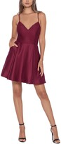 Thumbnail for your product : Blondie Nites Juniors' V-Neck Fit & Flare Dress