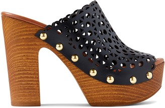 Nine West Star Heeled Clog Sandals