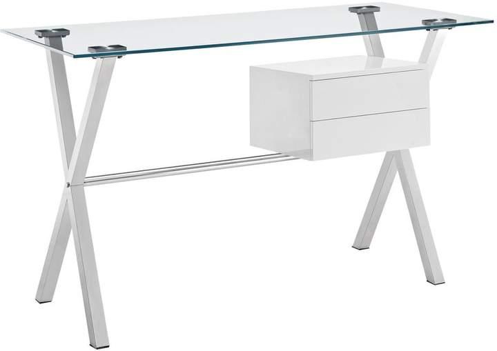 metal and glass desk shopstyle rh shopstyle com