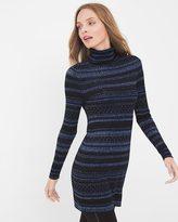 White House Black Market Fair Isles Turtleneck Tunic Sweater