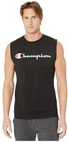 Champion Classic Jersey Graphic Muscle Tee (Black) Men's Sleeveless