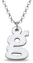 "Zales Child's Lowercase Initial Pendant in Sterling Silver - 14"" (1 Initial)"