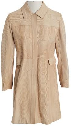 Christian Dior Beige Python Coat for Women Vintage
