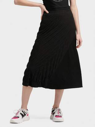 DKNY A-line Skirt With Textured Bubble Print