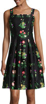 J Taylor Sleeveless Floral Fit-and-Flare Dress
