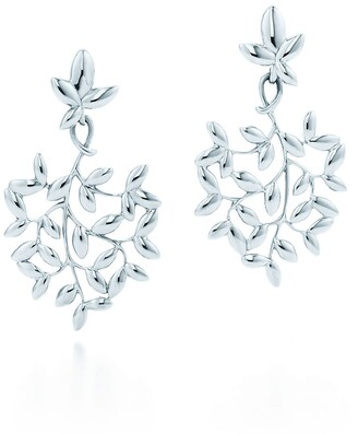 Tiffany & Co. Paloma Picasso Olive Leaf drop earrings in sterling silver, small