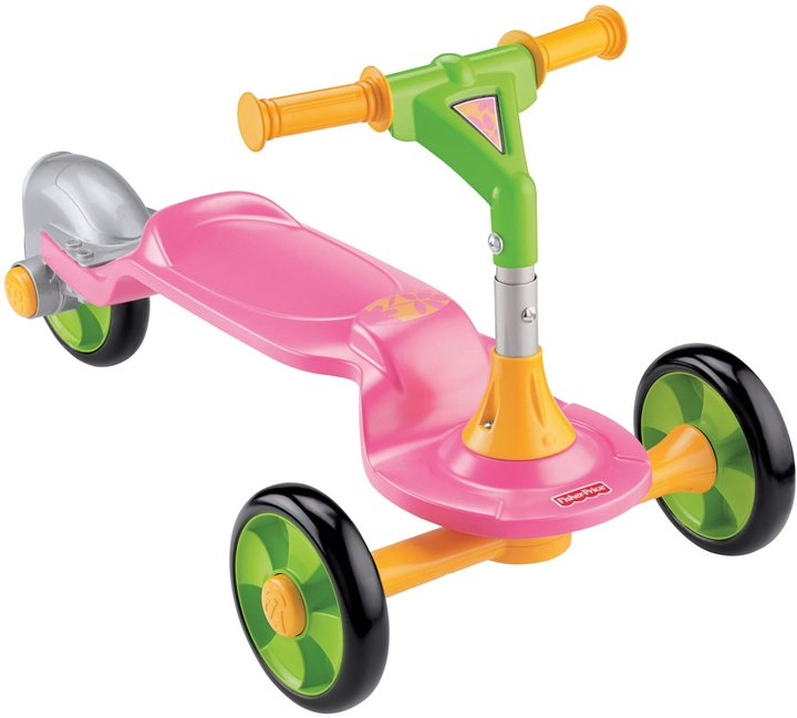 Fisher-Price Grow With Me Sit To Stand Scooter - Pink