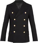 Balmain Double-breasted wool pea coat