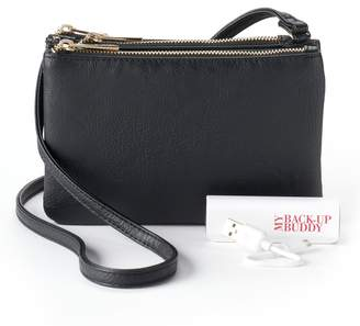 Apt. 9 Protect & Connect RFID-Blocking Phone Charging Crossbody Bag