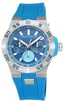 Vince Camuto Men's Quartz Watch with Blue Dial Analogue Display and Blue Silicone Strap VC/1010LBSV