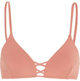 Melissa Odabash Sardinia Lace-up Bikini Top - Antique rose