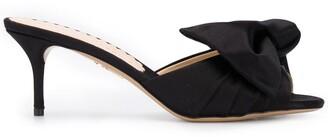 Charlotte Olympia Drew satin sandals