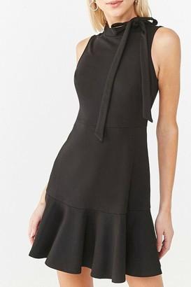 Forever 21 Sleeveless Bow Neck Mini Dress