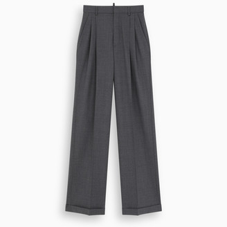 DSQUARED2 Dark grey high-waisted trousers