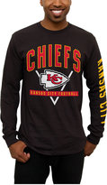 Junk Food Clothing Men's Kansas City Chiefs Nickel Formation Long Sleeve T-Shirt