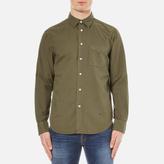 Rag & Bone Men's Standard Issue Beach Shirt Dark Olive