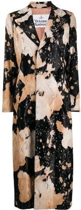 Vivienne Westwood Animal-Pattern Velvet Single-Breasted Coat