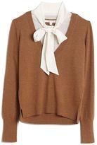 Veronica Beard Arrow Silk Blouse Sweater