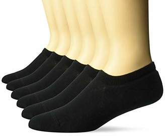 Amazon Essentials Men's 6-Pack Stay in Place Cotton Cushioned Sneaker Liner Socks