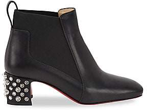 Christian Louboutin Women's Study Studded Leather Chelsea Boots