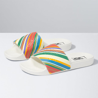 Vans Womens Retro Stripes Slide-On