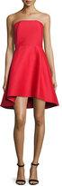 Halston Strapless Structured Cocktail Dress, Scarlet