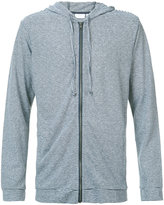 Onia James zip up hoodie - men - Linen/Flax/Polyester/Spandex/Elastane - S