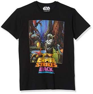 Star Wars MERCHCODE Men's Yoda Poster Tee M T-Shirt, M
