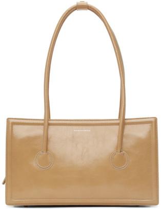 Marge Sherwood Beige Crinkled Medium Boston Bag