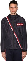 Moncler Trakehner Nylon Jacket W/ Striped Detail