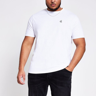 River Island Big and Tall blue slim fit T-shirt