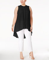 Alfani Plus Size High-Low Tunic, Created for Macy's
