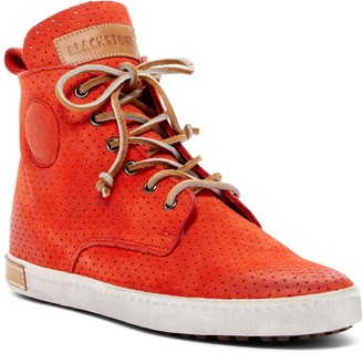 Blackstone Perforated Leather High-Top Sneaker
