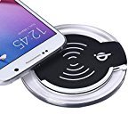 Tenworld Qi Wireless Charger Charging Pad for Samsung Galaxy S6/S6 Edge (Black)