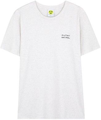 YEAH RIGHT NYC Filthy Animal Stone Melange Cotton T-shirt