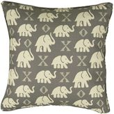 Rose Tree Elephant 18-Inch Square Throw Pillow in Grey