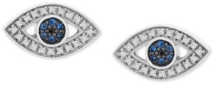 Wrapped Diamond Evil Eye Stud Earrings (1/8 ct. t.w.) in 14k White Gold, Created for Macy's