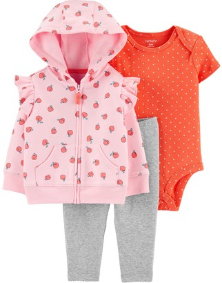 Carter's Baby Girl 3-Piece Peach Little Jacket Set