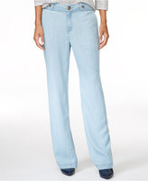Maison Jules Chambray Wide-Leg Pants, Only at Macy's