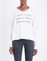 Wildfox Couture Resolutions jersey sweatshirt