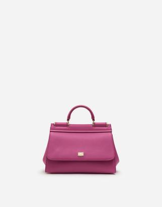 Dolce & Gabbana Small Calfskin Sicily Soft Bag