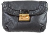 Marc by Marc Jacobs Pleated Trim Leather Pouch