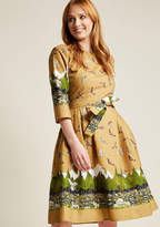 Palava Day Trip Darling Midi Dress in Mountain in 18 (UK) - Fit & Flare by Palava from ModCloth