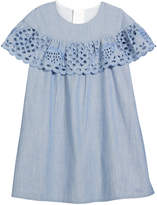Chloé Strawberry Eyelet Ruffle Dress, Size 12-14
