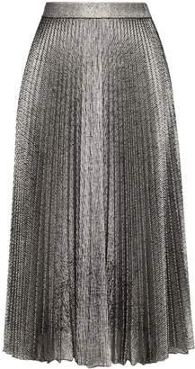 Christopher Kane metallic pleated midi skirt