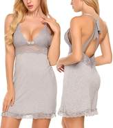 Avidlove Women Chemise Sexy Lingerie Backless Sleepwear Lace Babydoll Full Slip XL