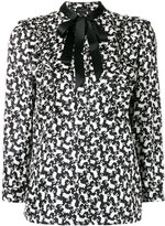 Marc Jacobs poodle print shirt - women - Silk - 8