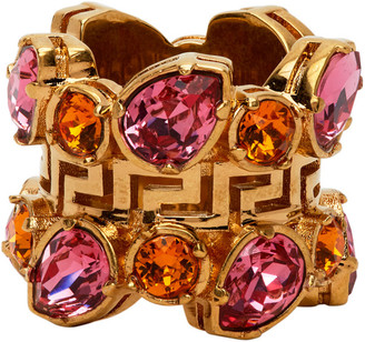 Versace Pink Jungle Empire Ring