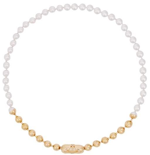 Vivienne Westwood Olga Small Swarovski Pearl Necklace