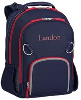 Pottery Barn Kids Small Backpack, Fairfax Solid Navy/Red, No Patch